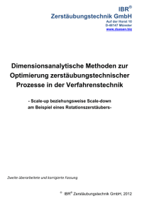 Dimensionsanalytik-Rotationszerstaeuber