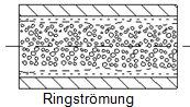 Die Ringströmung bei Zweistoff-Düsen innerer Mischung.
